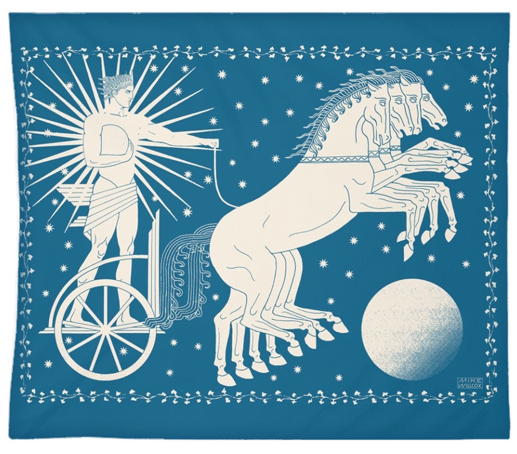 """Image of Helios - Tapestry 68""""x80"""""""