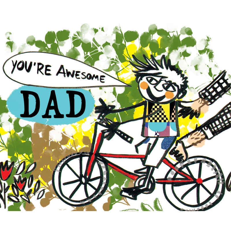 "Image of ""You're Awesome Dad"" Card"