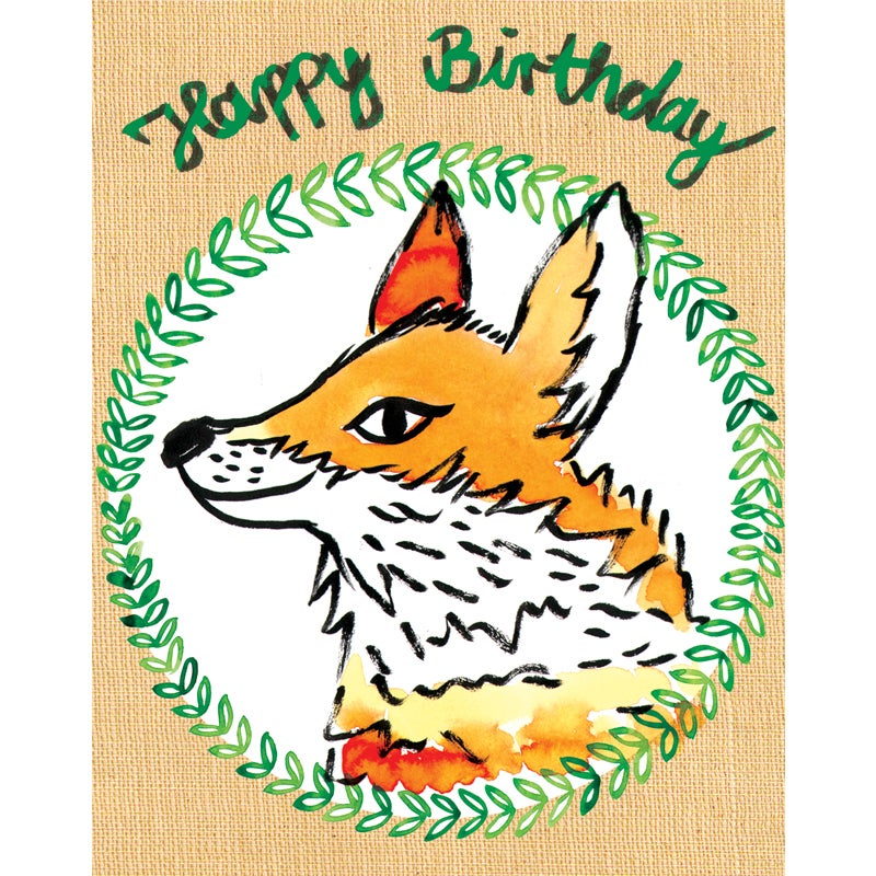 Image of Happy Birthday (Fox), Card