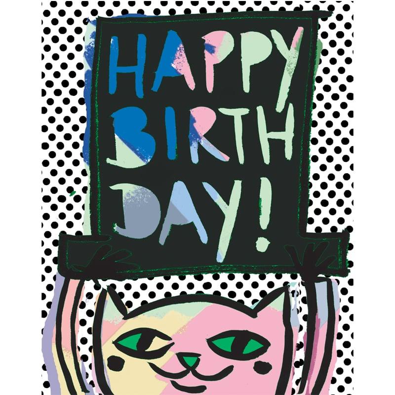Image of Happy Birthday (Cat&Hat), Card