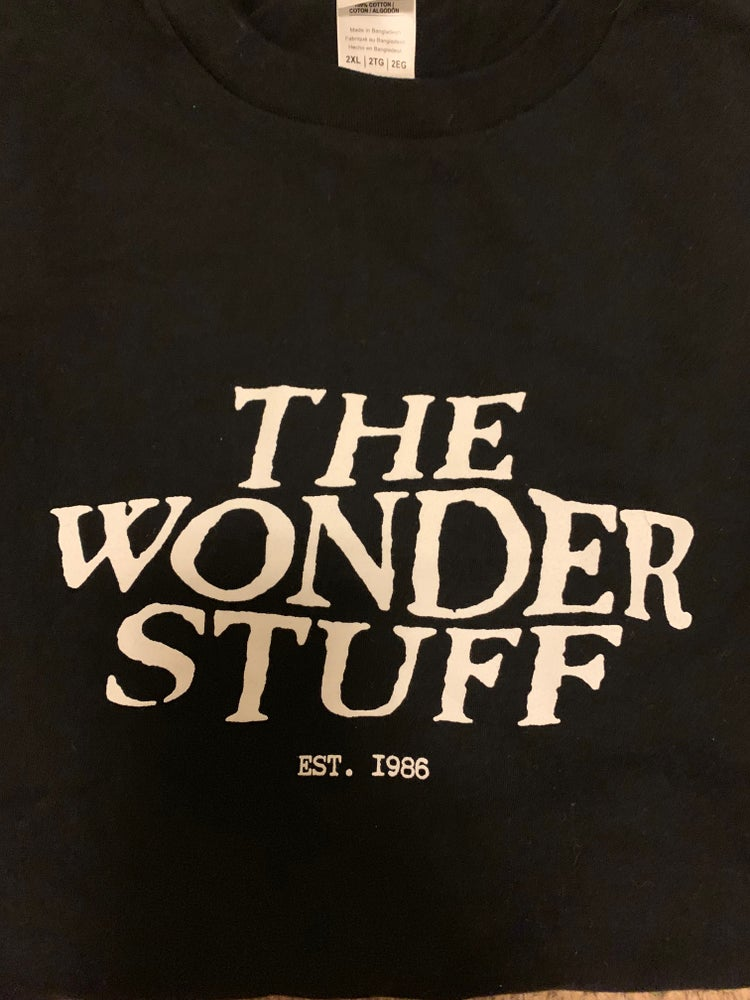 Image of The Wonder Stuff Est. 1986 logo T-Shirt