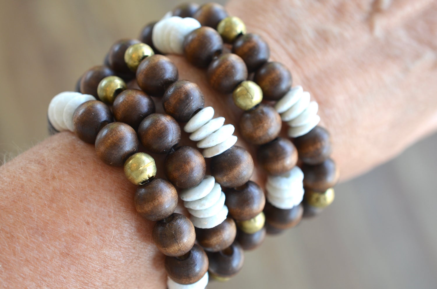 Image of African Beat Wood Bracelet