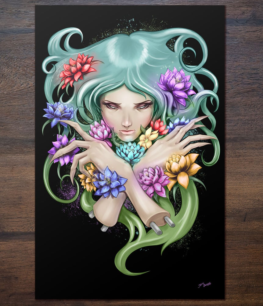 Image of Flower Claws Print 11x17