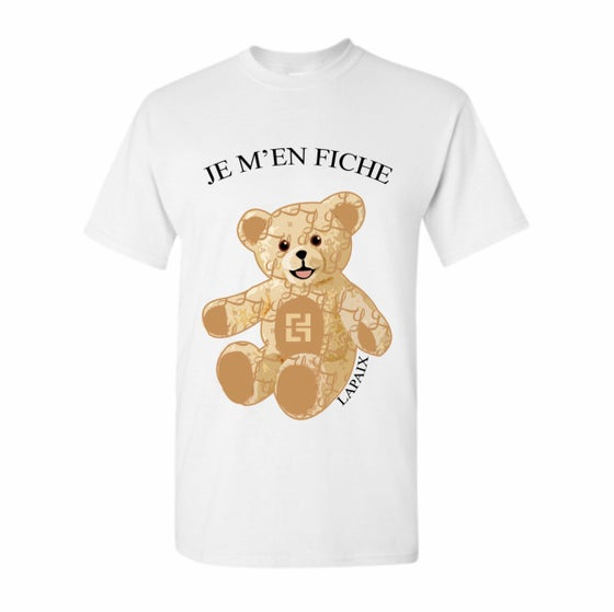 "Image of Lapaix ""IDC"" Bear Monogram T Shirt (White)"