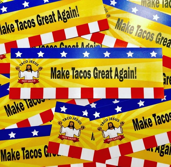 Image of Make Tacos Great Again Bumper Sticker