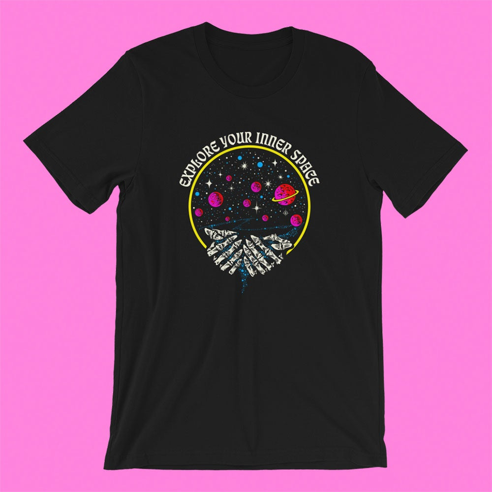 "Image of ""EXPLORE YOUR INNER SPACE"" BOSS DOG X NTS COLLAB T-SHIRT"