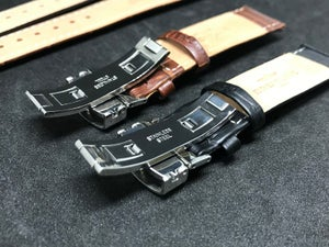 Image of BREITLING Deployment Gents Leather Straps,Brown,Black,18mm/20mm,New