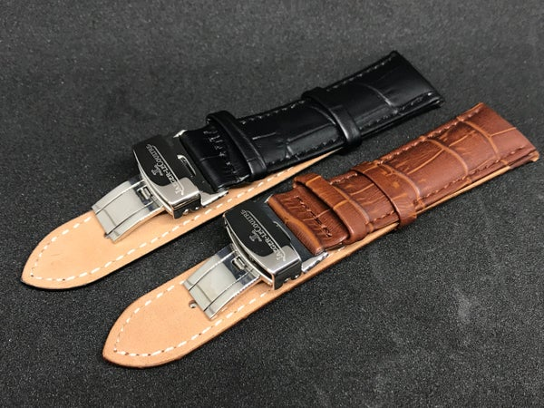 Image of JAEGER_LECOULTRE Deployment Gents Leather Straps,Brown,Black,18mm/20mm,New