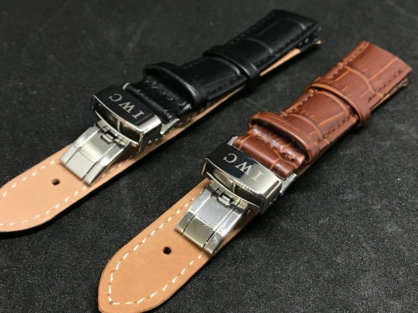 Image of IWC Deployment Gents Leather Straps,Brown,Black,18mm/20mm,New