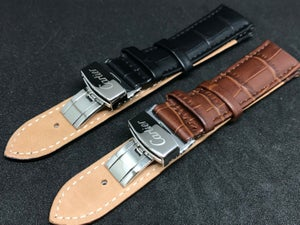 Image of CARTIER Deployment Gents Leather Straps,Brown,Black,18mm/20mm,New