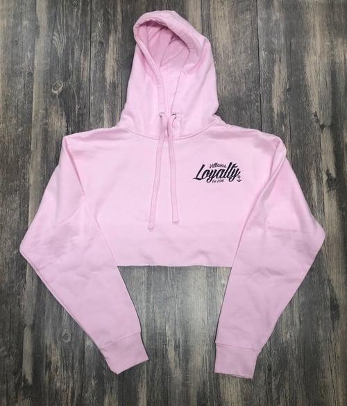 Image of LOYALTY crop hoodie