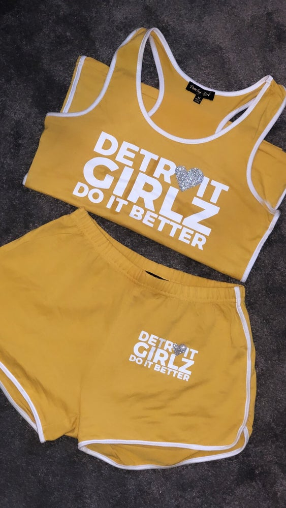 Image of The mustard short set