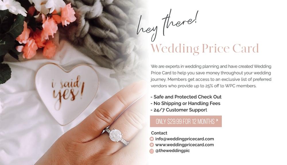Image of Buy Wedding Price Card