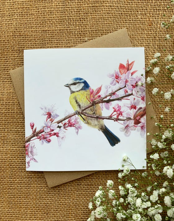 Image of 'Blossom & Blue' Greetings Card