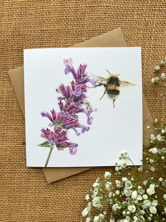 Image of 'Bumble' Greetings Card