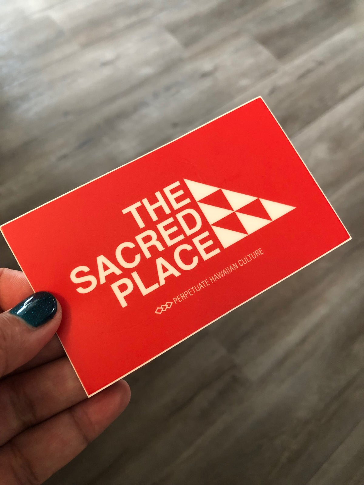 Image of The Sacred Place Sticker