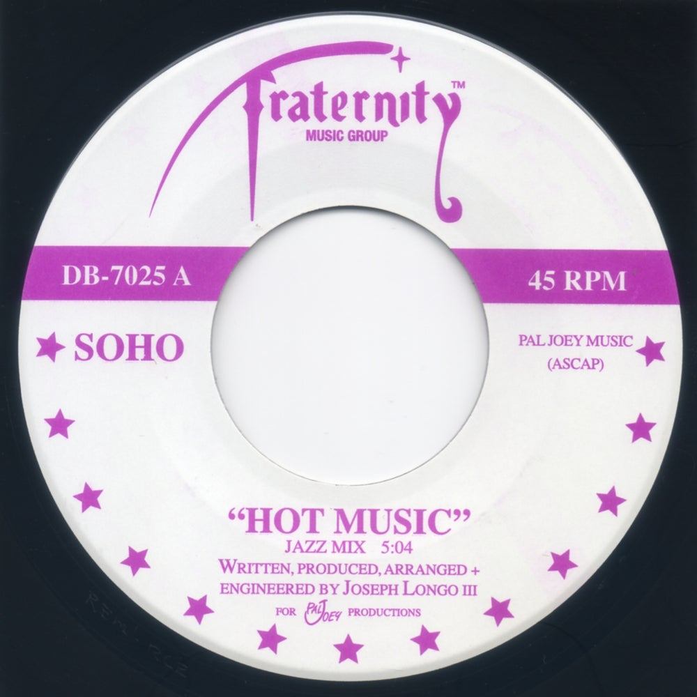 "Image of Hot Music (Jazz Mix) / Dance (Club Mix) - 7"" Fraternity Black Vinyl"