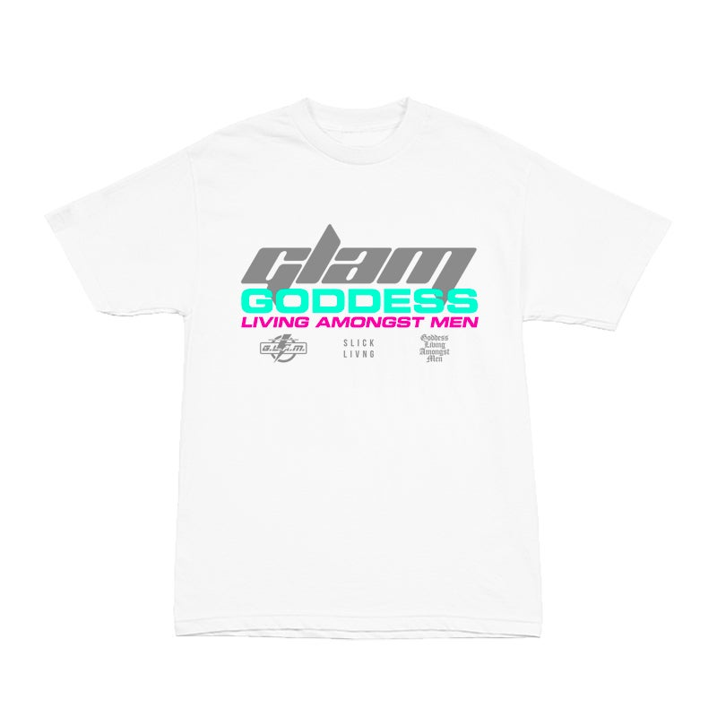 Image of South Beach Miami White Tee | EXCLUSIVE GODDESS SUMMER COLLECTION