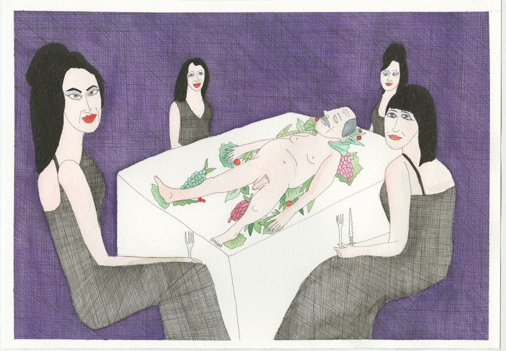"""Image of """"Dinner of the dark babes"""""""