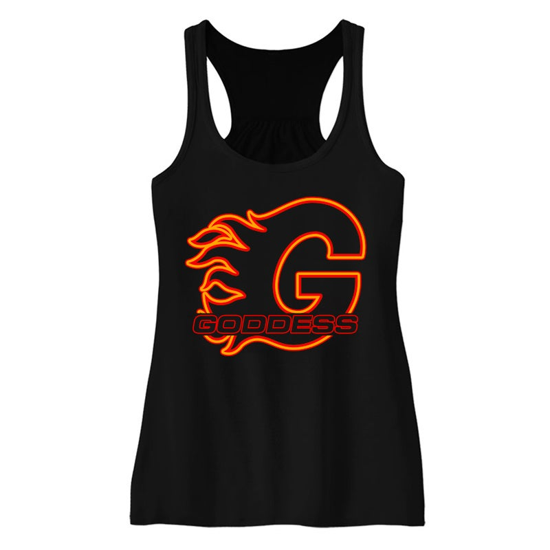 Image of GODDESS ON FIRE TANK TOP | EXCLUSIVE GODDESS SUMMER COLLECTION