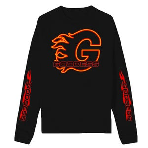 Image of GODDESS ON FIRE LONG SLEEVE TEE | EXCLUSIVE GODDESS SUMMER COLLECTION