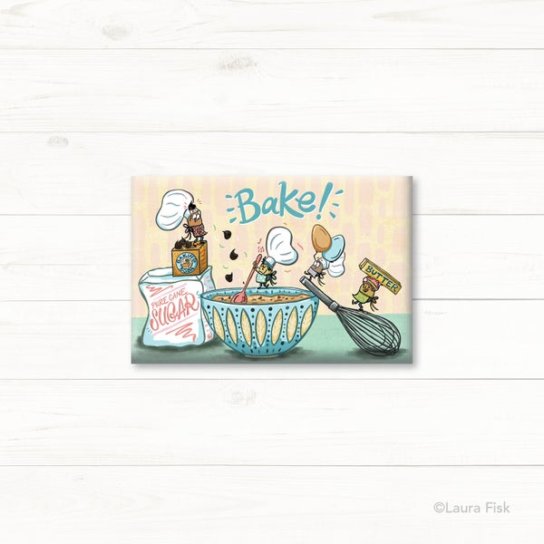 Image of Baking Funny Foods Fridge Magnet