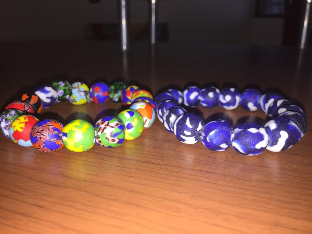 Image of Traditional Ghanaian Glass bead bracelets