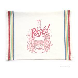 Image of Rosé Wine Funny Food Tea Towel