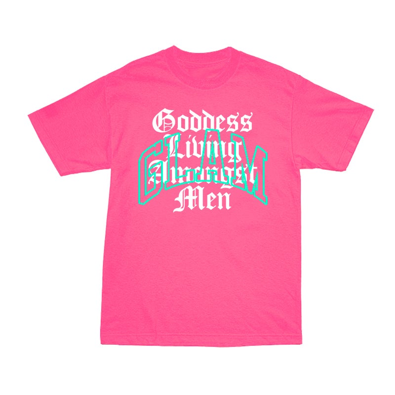 Image of GODDESS SUMMER VIBES NEON PINK TEE | EXCLUSIVE GODDESS SUMMER COLLECTION