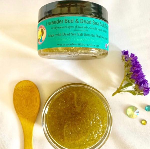 Image of Lavender Bud Dead Sea Salt Scrub