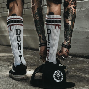 Image of DFD BNC || Sullen Collab Tall Socks