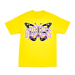 Image of GODDESS UNIVERSITY YELLOW TEE | EXCLUSIVE GODDESS SUMMER COLLECTION