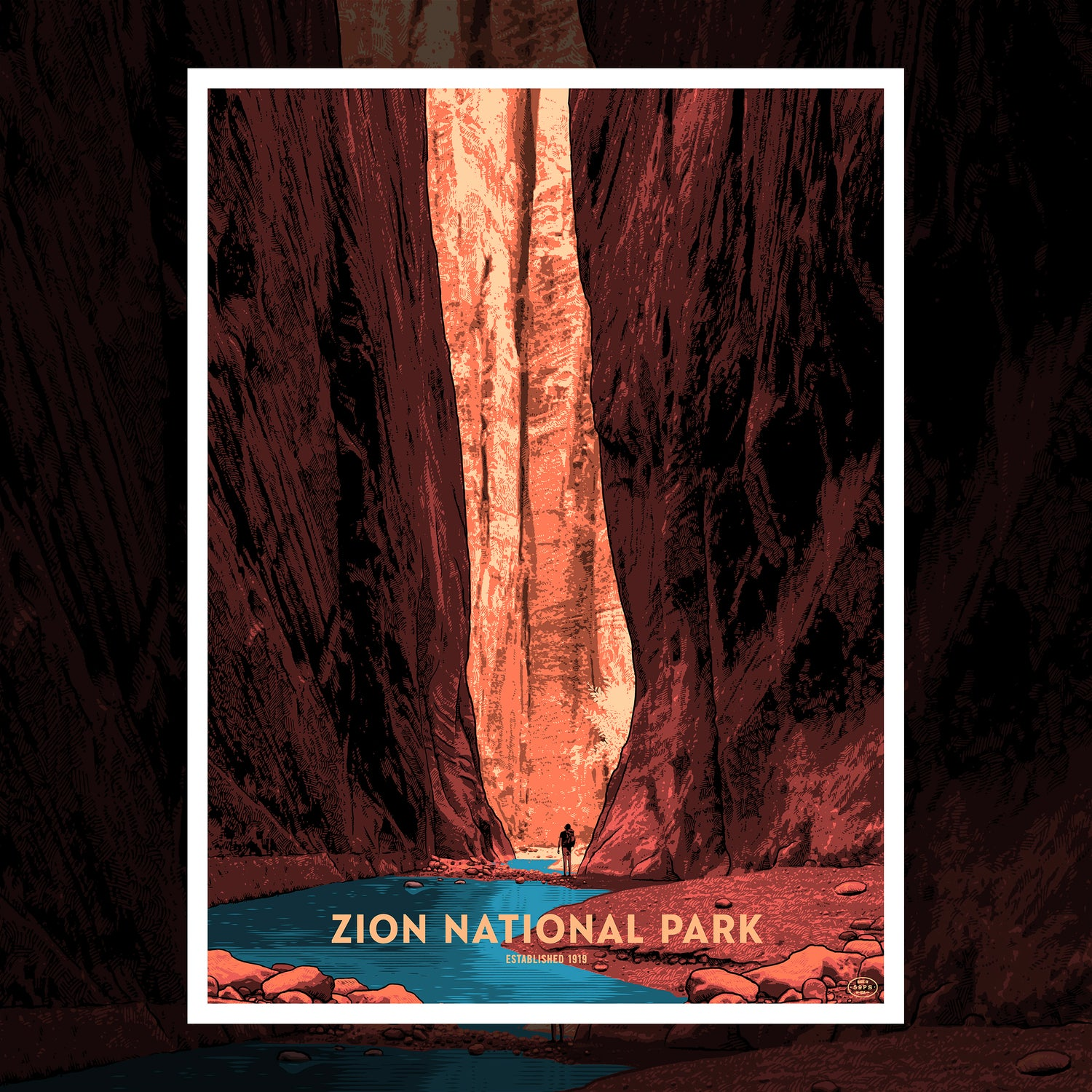 Image of (1 left) ZION NATIONAL PARK - THE NARROWS