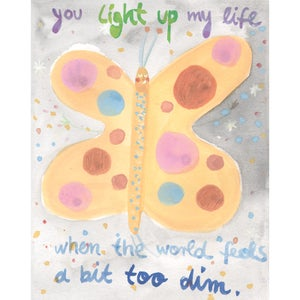 Image of You light up my life when the world feels a bit too dim , Card