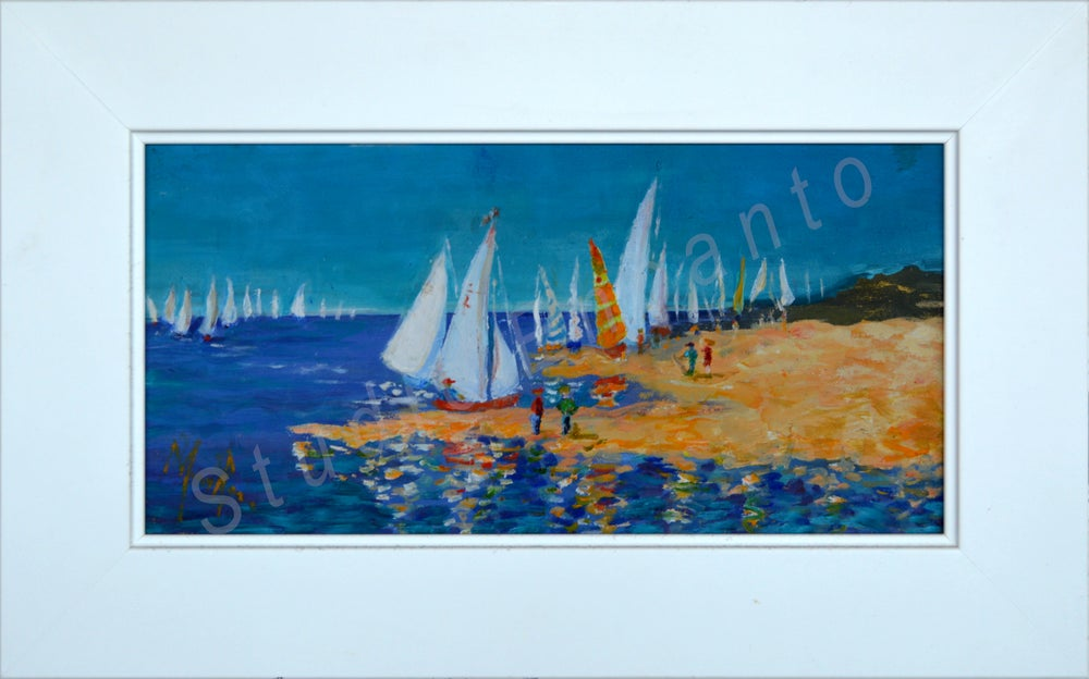 Image of Regatta Sailboats by Mary Rose Holmes
