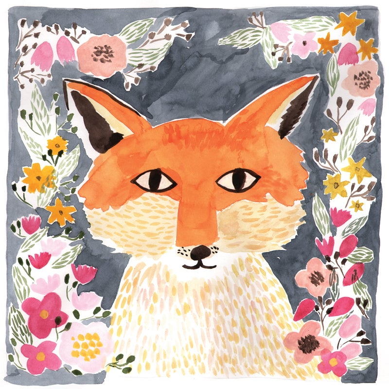 Image of Fox, 12x12 Print