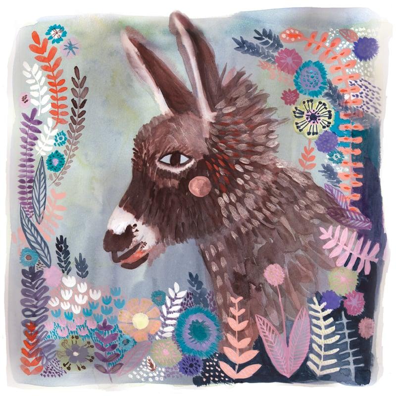 Image of Donkey, 12x12 Print