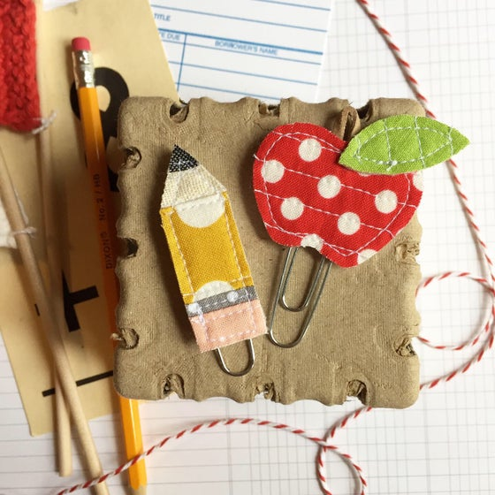Image of Quilted Apple or Pencil Planner Clip
