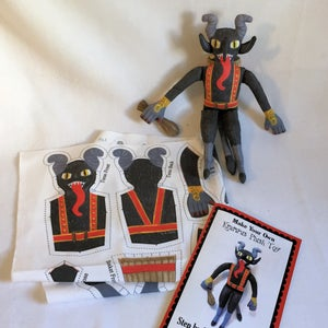 Image of Krampus fabric DIY