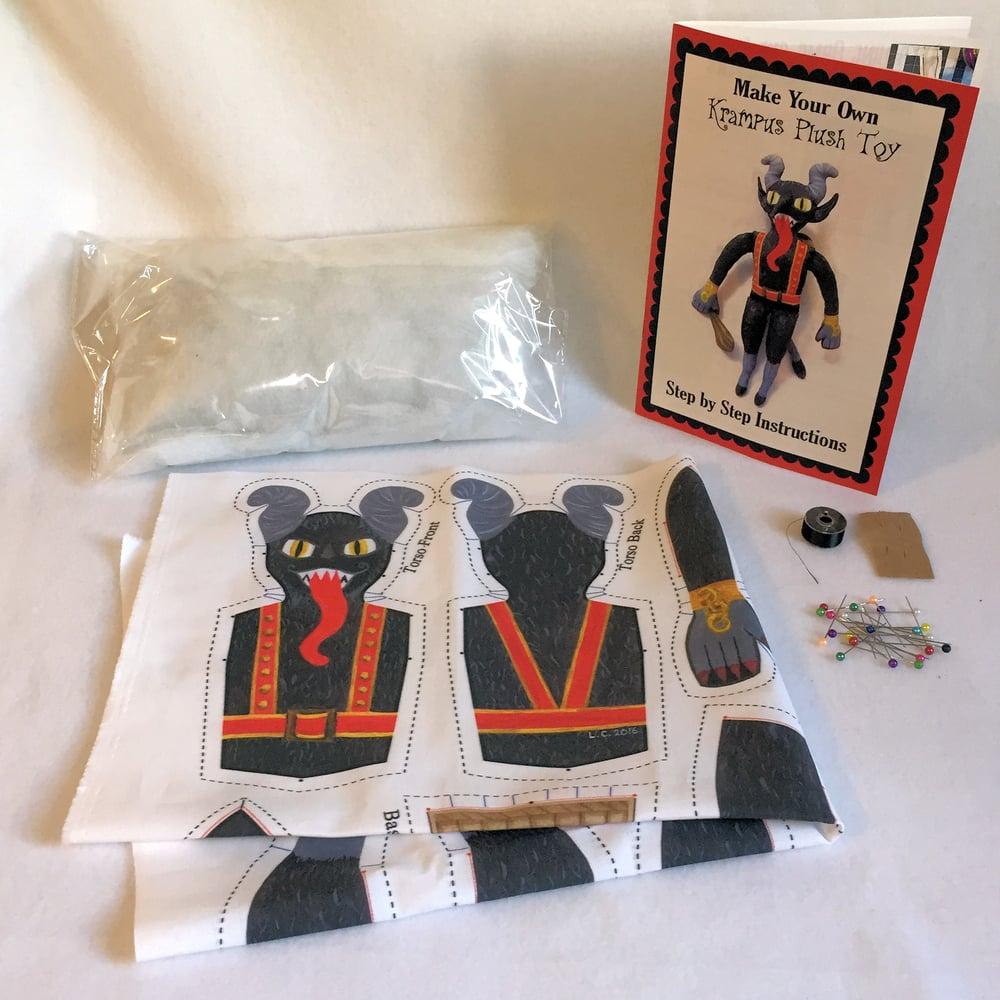 Image of  Krampus plush toy DIY sewing kit