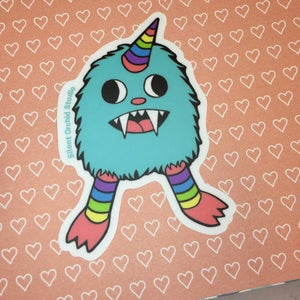 Image of Rainbow Monster die cut sticker