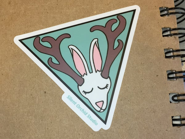 Image of Jackalope die cut sticker
