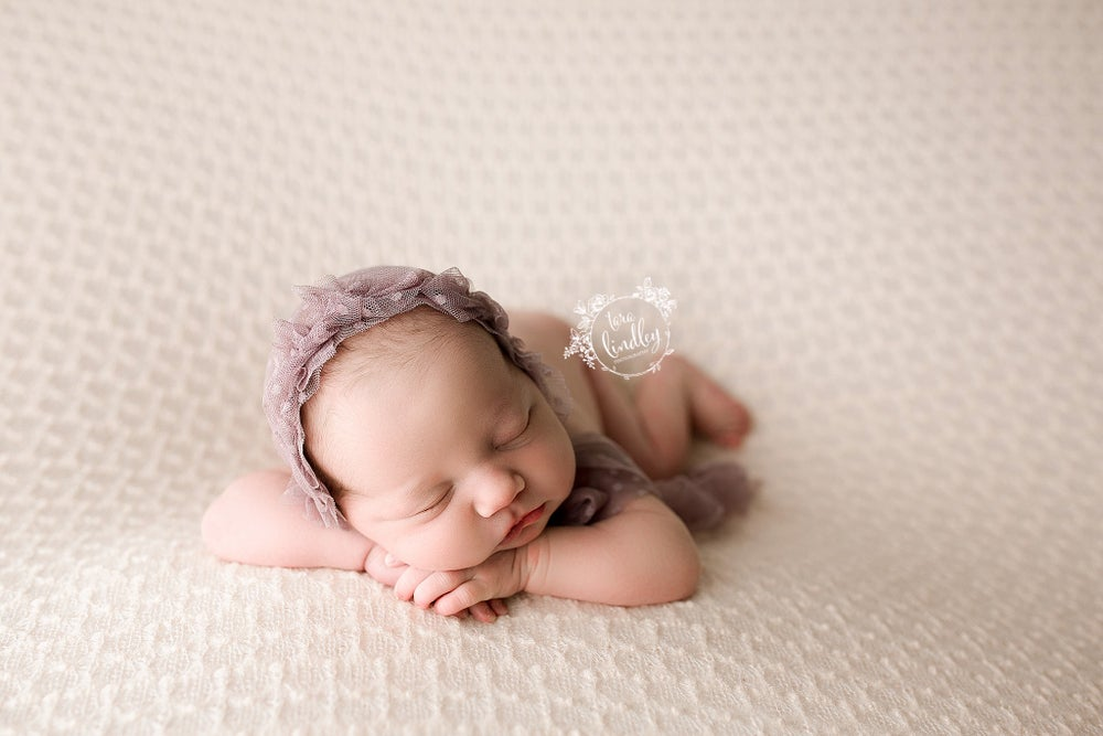 Image of Yara CREAM knit beanbag backdrop