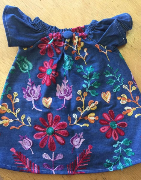 Image of NEW - Embroidered Floral Dress