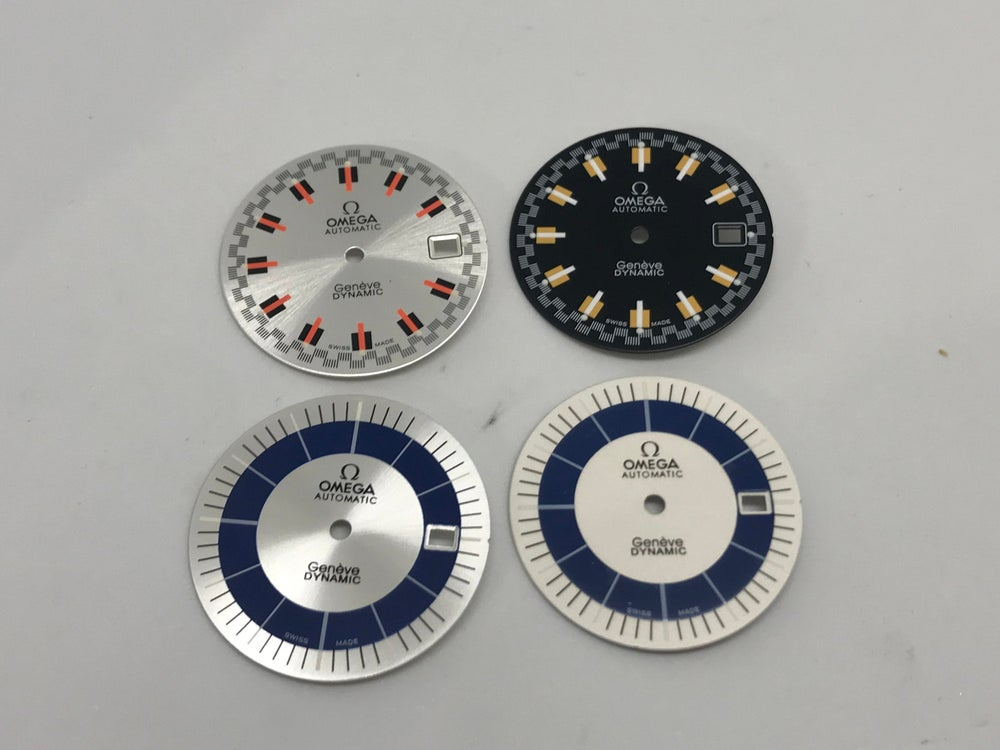 Image of NEW OMEGA DYNAMIC GENTS WATCH DIALS,4 X COLORS,NEW