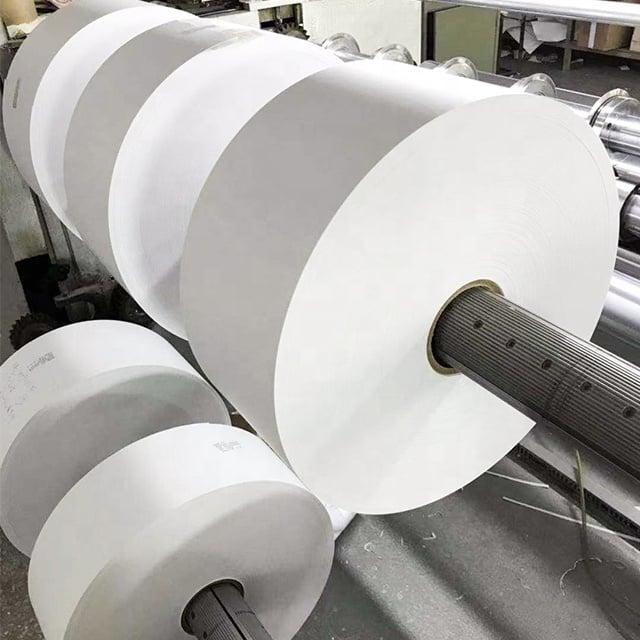 Image of Blank White Eggshell Sticker Paper Material in Rolls