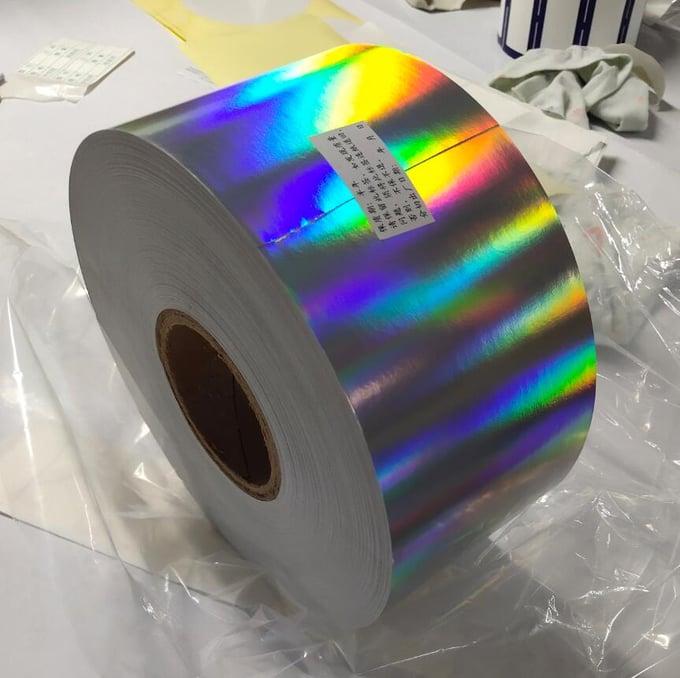 Image of Plain Hologram Eggshell Sticker Paper Material in Rolls