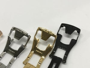 Image of OMEGA DEPLOYMENT BUCKLES,SIZES-14MM-16MM-18MM-20MM-4 X COLORS,NEW.