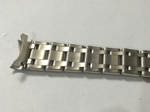 Image of Rolex Slim 20mm Solid Stainless Steel Gents Watch Strap,