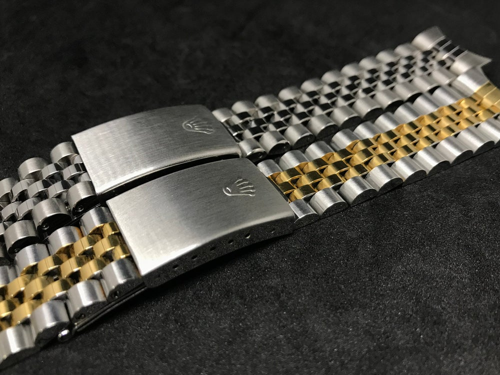 Image of ROLEX JUBILEE OYSTER GENTS WATCH STRAP,17MM/18MM/19MM/20MM-2 X COLORS-NEW.